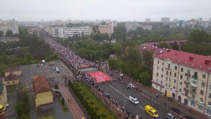 По Брянску прошествовал многотысячный «Бессмертный полк»