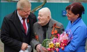 Единственный здравствующий фронтовик из Внуковичей отпраздновал Победу с гостями