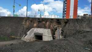 В Брянске ливень размыл дамбу на новой дороге