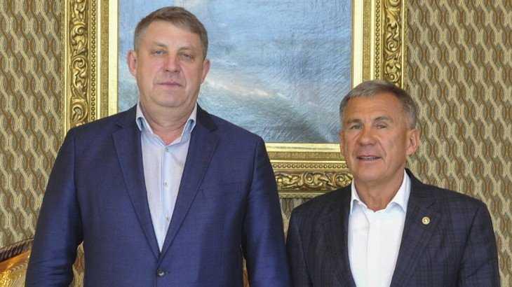 Президент РТ встретился с брянским губернатором Александром Богомазом