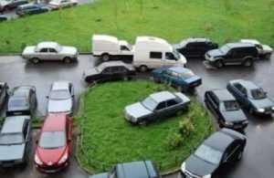 Парковка у подъезда: штраф