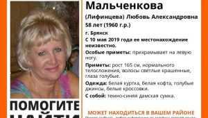 В Брянске без вести пропала 58-летняя Любовь Мальченкова