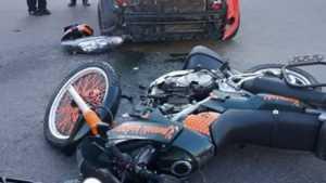 В Новозыбкове в тройном ДТП покалечился мотоциклист