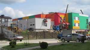 В «Мегаполис-Парке» завершается строительство детского сада