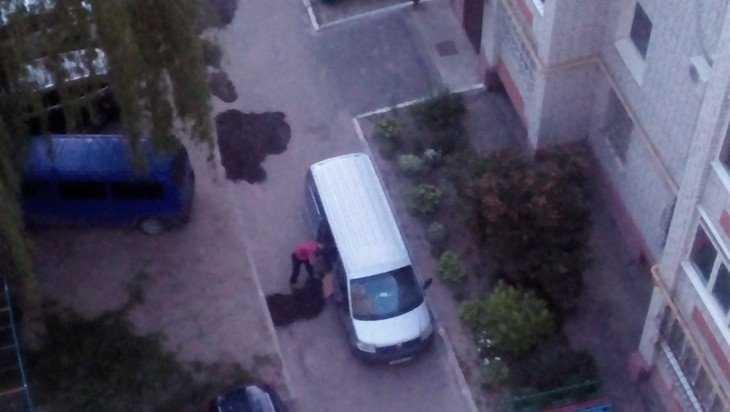 Житель Брянска героически отремонтировал дорогу в своем дворе