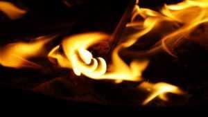В Локте сгорел грузовой КамАЗ