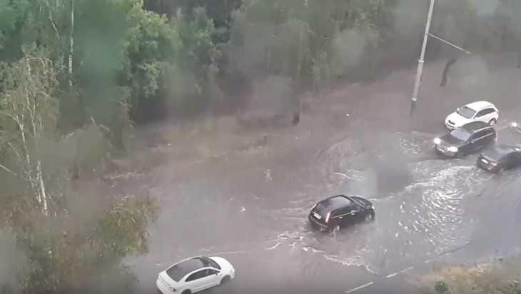 В Брянске после грозы сняли видео «горной реки» на улице Костычева