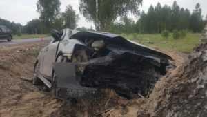 Под Жуковкой разбился Mitsubishi – пострадали два парня и девушка