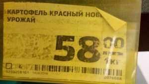 Картофель в брянских магазинах подорожал до цены бананов