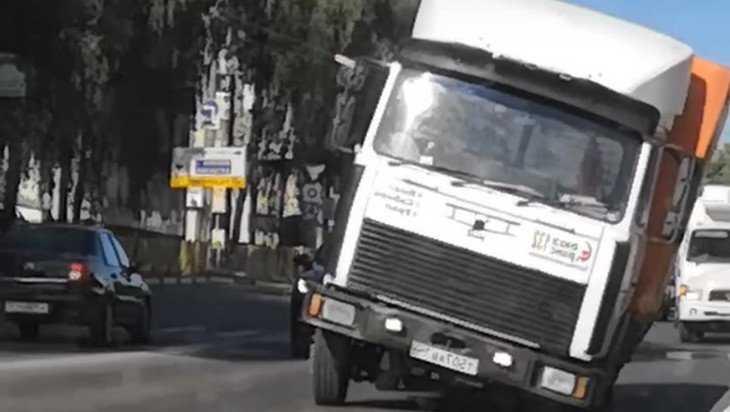 В Брянске сняли видео о кривом грузовике
