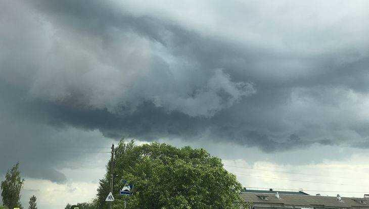 На Брянскую область обрушатся грозы, град и ураганный ветер