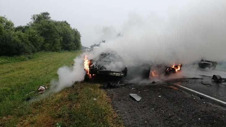 В страшной аварии под Брянском в двух легковушках погибли 4 человека