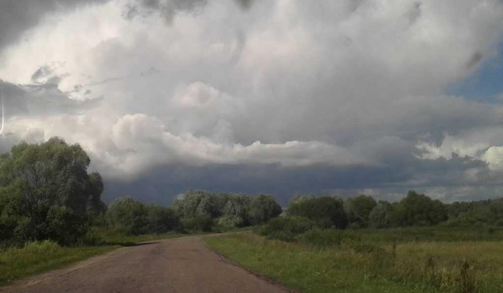 На Брянск после жары обрушился ливень