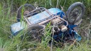 В Унече мотоциклист на «Урале» перевернулся в кювете и сломал ребра