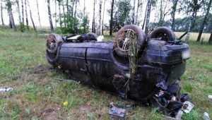 Под Погаром перевернулся Volkswagen – водитель попал в реанимацию