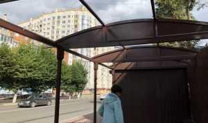 В Брянске с остановки возле площади Партизан исчезла крыша