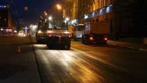 В Брянске ремонтировать проспект Ленина стали даже ночью