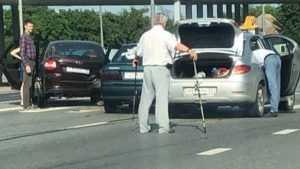 Появилось видео ДТП с тремя автомобилями под Брянском