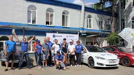 «Брянскэнерго» обеспечило подзарядку электромобилей международного автопробега
