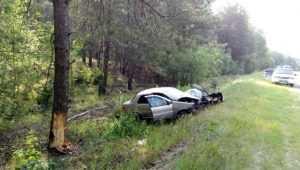 Под Клинцами 27-летний водитель Fiat при обгоне врезался в дерево