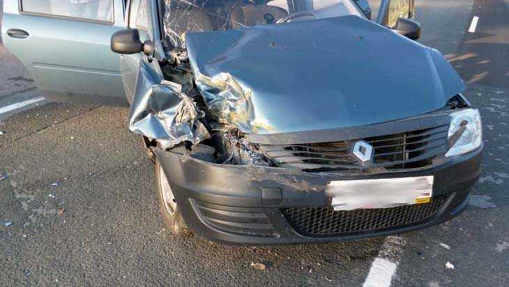 Под Дятьковом водитель «Рено» врезался в фуру и оказался в больнице