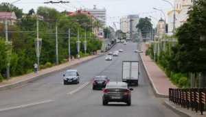 В Брянске закончили укладку асфальта на проспекте Ленина