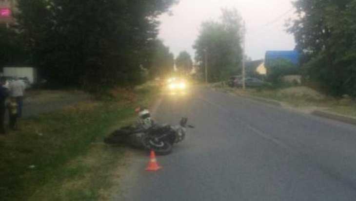 В Брянске сбивший собаку мотоциклист получил ссадины и ушибы