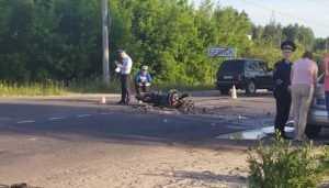 На окраине Брянска разбился мотоциклист