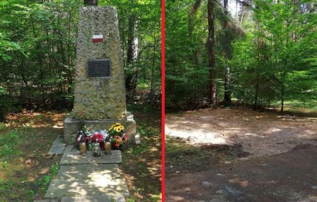 Из-за оголтелой русофобии в Польше снесли обелиск своим же партизанам