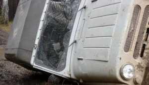 Под Брасовом на трассе перевернулся УАЗ – пострадал пассажир