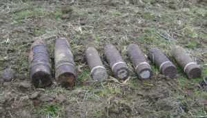 Под Брянском обезвредили 10 снарядов времён войны