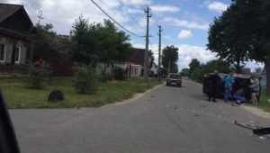 В Клинцах Брянской области перевернулась легковушка