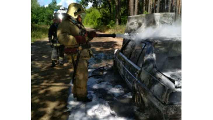 В Чайковичах сгорел автомобиль «Фольксваген»