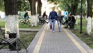 После ремонта парк Железнодорожников в Брянске стал местом притяжения