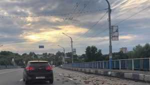 В Брянске на дороге посеяли добрый урожай дров