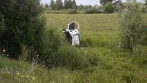 Брянская автомобилистка слетела в кювет – покалечился юноша