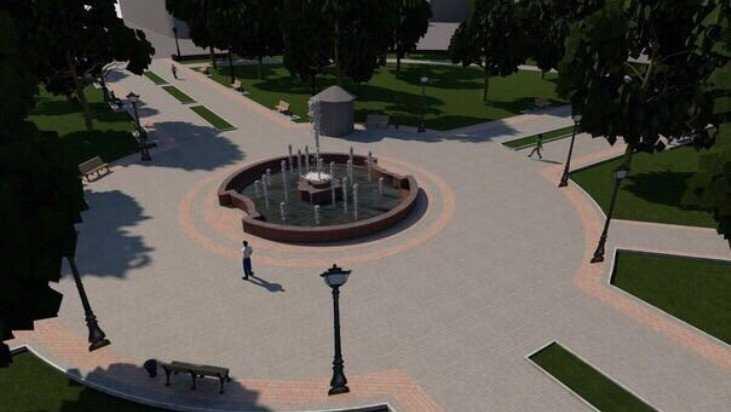 Глава Брянска показал, как будет выглядеть фонтан Круглого сквера