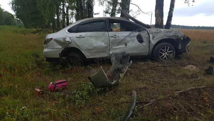 Брянская автомобилистка съехала в кювет и покалечила пассажира