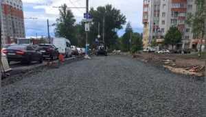 В Брянске дорогу на Авиационной улице защитили от трещин