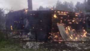 В Красногорском районе в сгоревшем доме погиб мужчина