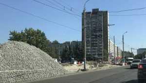 В Брянске с кольца на Авиационной подготовлена еще одна полоса съезда