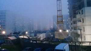 Фокинский район Брянска снова окутан дымом