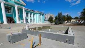 В Брянске в сквере возле ДК Горького заработает новый фонтан