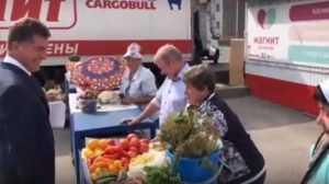 Глава Брянска пообещал защитить продавцов овощей от дождя
