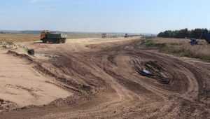 Под Севском развернулось строительство объездной дороги
