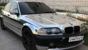 В Брянске появился автомобиль BMW в серебре