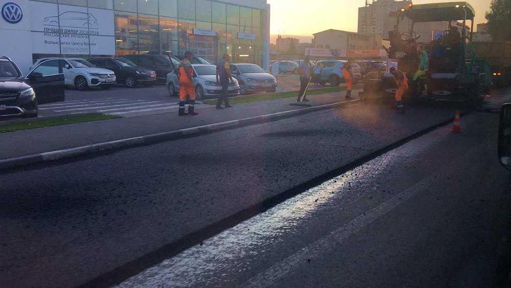 В Брянске капремонт дороги по Советской улице подошел к финишу