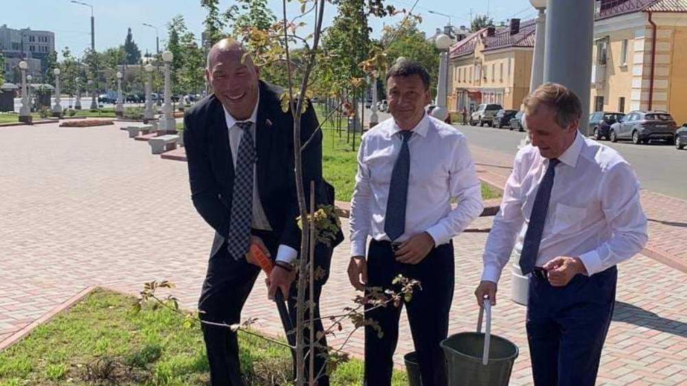 В Брянске на набережной Николай Валуев посадил именную рябину