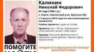 В Навле пропал без вести 63-летний Николай Калинин