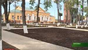 В Жуковке обновили привокзальный сквер